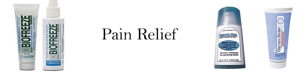 Pain Relief: Neuro-Eze, BioFreeze, Ortho-Nestic