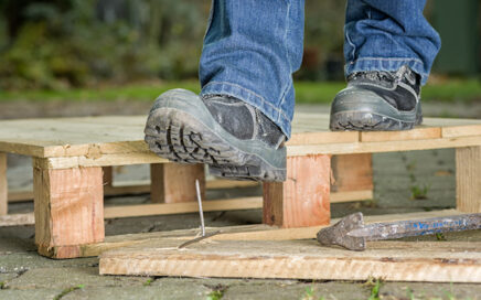 Safety Boots Step On Nail